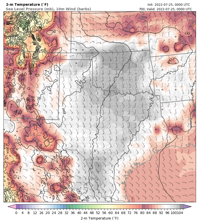 Texas Tech Real-Time WRF Modeling System